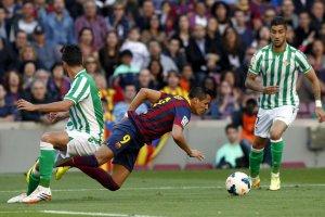 Barça 3-1 Betis Alexis wins penalty 2014