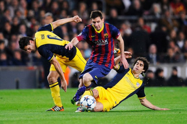 Barça 1-1 Atletico Madrid Leo Messi Champions League quarter final 2014