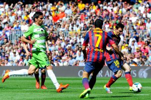 Barça 2-2 Getafe Messi scores 2014