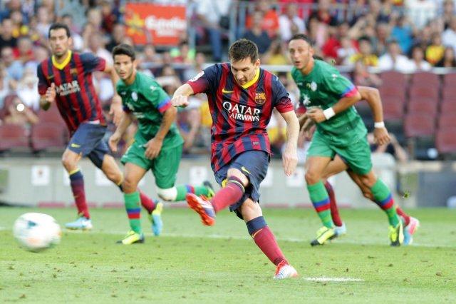 barcelona 7-0 levante messi penalty goal 2013