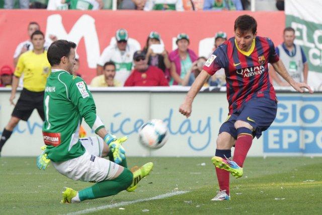 Elche 0-0 Barça Herrera Messi 2014
