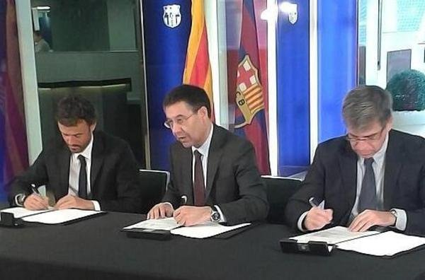 Luis Enrique sign contract Barça coach 2014