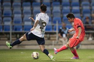 Joan Román scores Recreativo 0-1 Barça 2014
