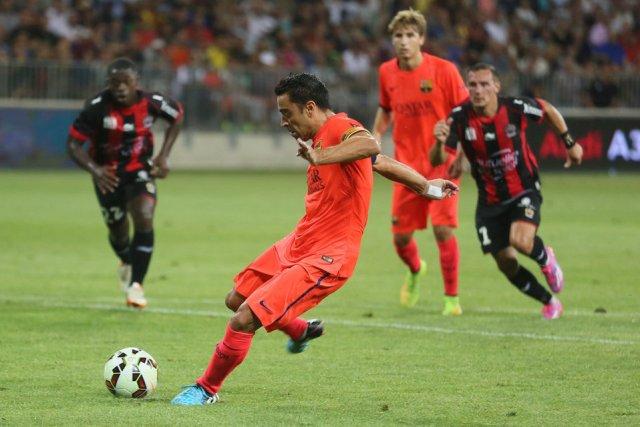 Nice 1-1 Barcelona Xavi penalty 2014
