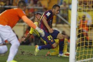 Villarreal 0-1 Barcelona Sandro Ramírez scores winning goal 2014