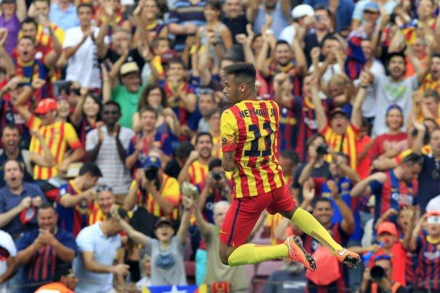 Barça 2-0 Athletic Neymar celebration 2014