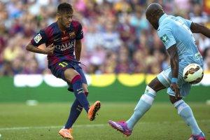 Barça 6-0 Granada Neymar first goal 2014