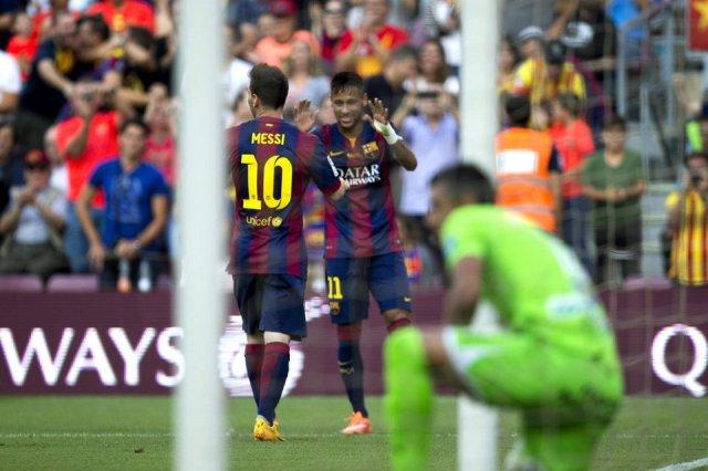 Barça 6-0 Granada Neymar Messi 2014
