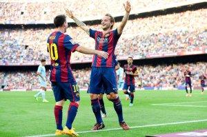 Barça 6-0 Granada Rakitic goal Messi 2014