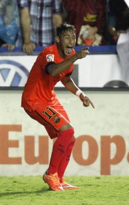 Levante 0-5 Barça Neymar celebreates goal 2014