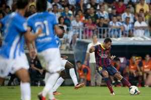 malaga 0-1 barcelona adriano goal 2013