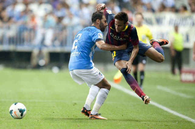 Malaga 0-1 Barcelona Neymar Jr 2013