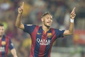 Barça 3-0 Eibar celebration Neymar 2014