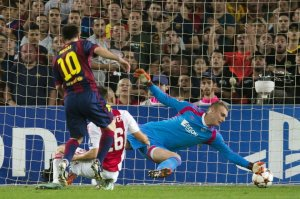 Barça 3-1 Ajax Messi goal 2014