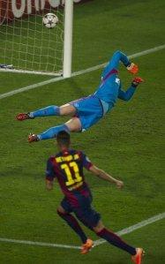 Barça 3-1 Ajax Neymar goal 2014