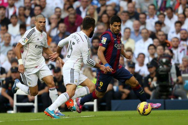 Madrid 3-1 Barça Luis Suarez debut 2014