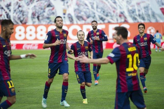 Rayo 0-2 Barça Messi Neymar 2014