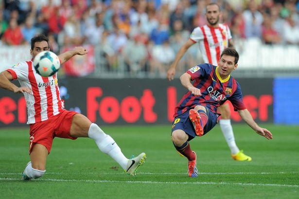 Almeria 0-2 Barcelona Messi shoots 2013