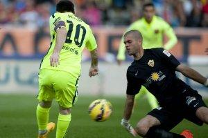 Almeria 1-2 Barça Messi shot Ruben 2014