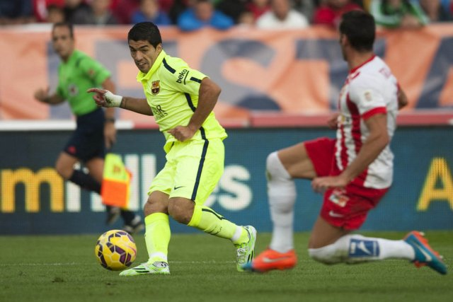 Almeria 1-2 Barça Suarez assist 2014