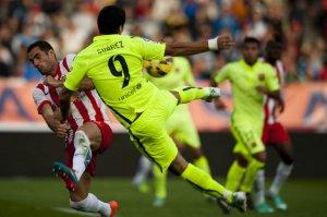 Almeria 1-2 Barça Suarez crossbar 2014