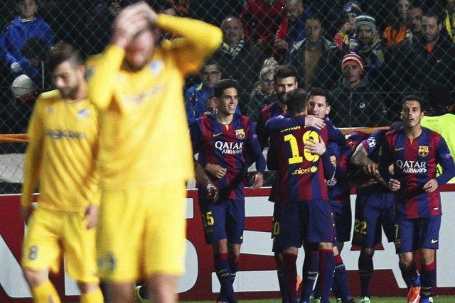 Apoel 0-4 Barça Messi goal celebration 2014