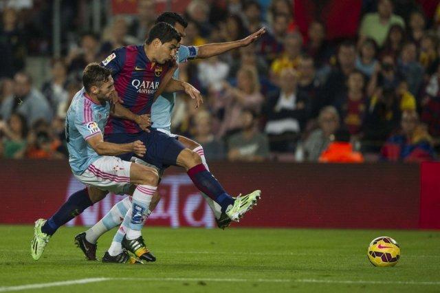 Barça 0-1 Celta Luis Suarez Nov 2014