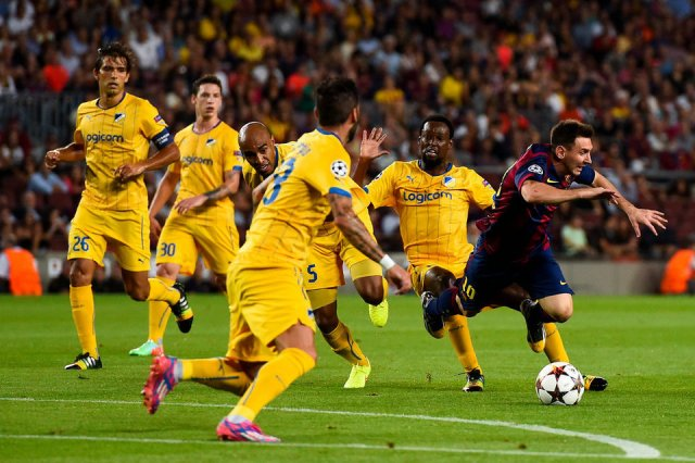 Barça 1-0 Apoel Messi 2014