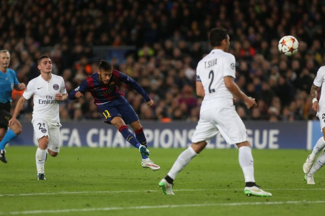 Barça 3-1 PSG Neymar goal 2014