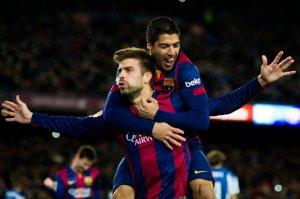 Barça 5-1 Espanyol Piqué goal 2014