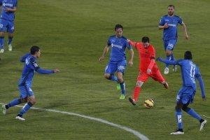 Getafe 0-0 Barça Messi surrounded 2014