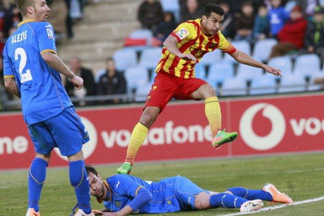 Getafe 2-5 Barcelona Pedro hat-trick goal 2013