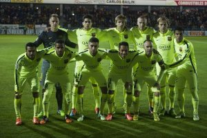 Huesca 0-4 Barça team photo 2014