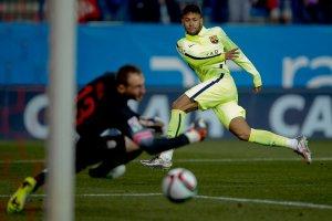 Atlético 2-3 Barça Neymar scores his first goal 2015