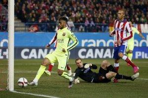 Atlético 2-3 Barça Neymar scores his second goal 2015