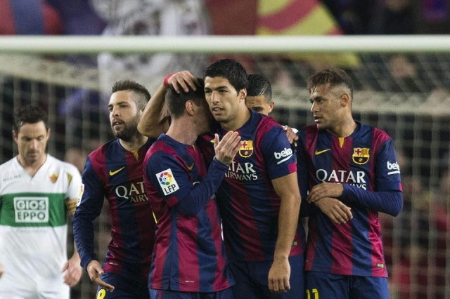 Barça 5-0 Elche Alba Messi Suarez Neymar 2015