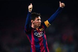 Barça 5-0 Elche Messi goal celebration 2015