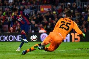 Barça 5-0 Elche Neymar scores first goal 2015