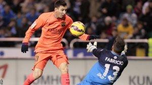 Deportivo 0-4 Barça Messi second goal 2015