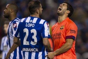 Deportivo 0-4 Barça Suarez shout 2015
