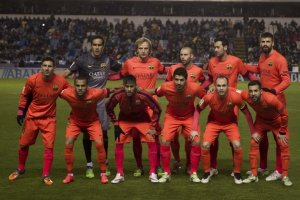 Deportivo 0-4 Barça Team photo 2015