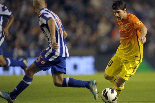 deportivo 4-5 barça messi hat trick goal