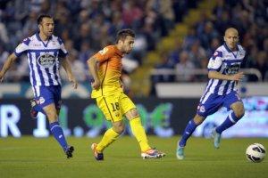deportivo 4-5 barcelona jordi alba goal