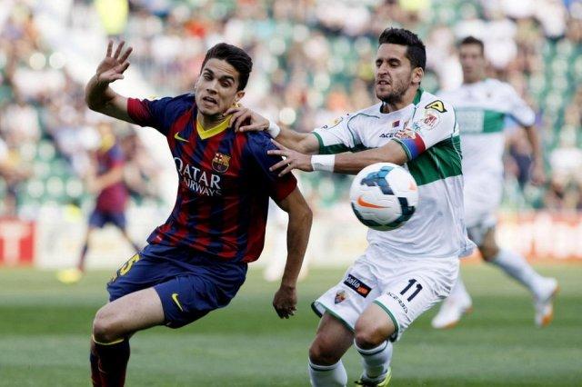 Elche 0-0 Barça Bartra 2014