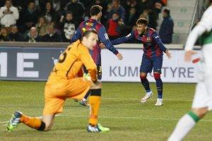 Elche 0-6 Barça messi neymar 2015