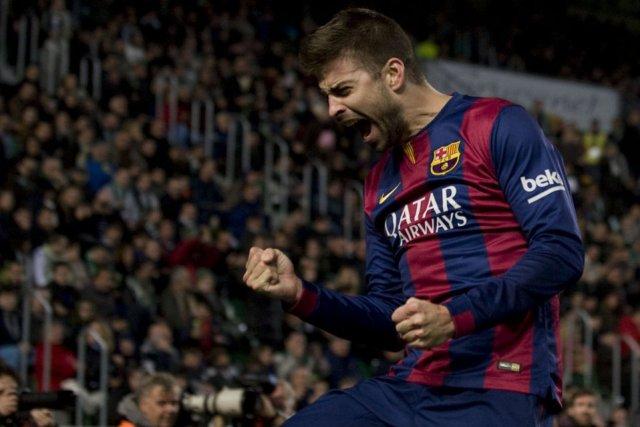Elche 0-6 Barça pique 2015