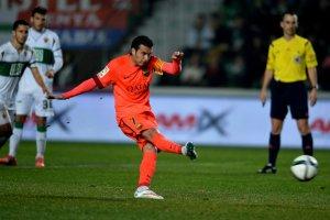 Elche 0 Barça 4 Pedro penalty copa del rey 2015