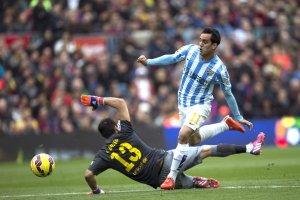 Barça 0-1 Malaga juanmi goal 2015