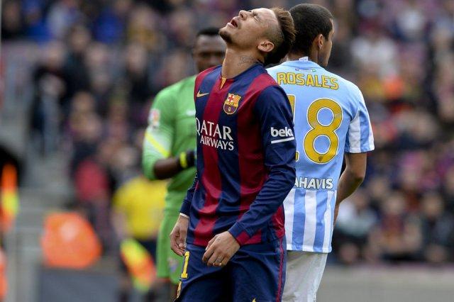 Barça 0-1 Malaga Neymar 2015