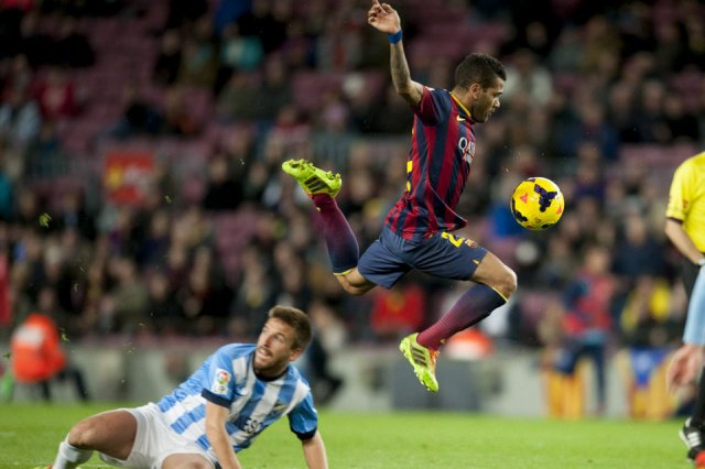 Barça 3-0 Malaga Dani Alves 2014